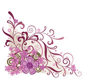 Pink floral corner design element Stock Photos