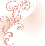 Pink floral corner element Royalty Free Stock Image
