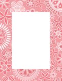 Pink floral decorative frame Royalty Free Stock Images