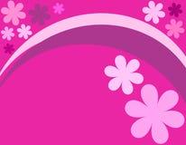 Pink floral design. Floral design on pink background Royalty Free Stock Images