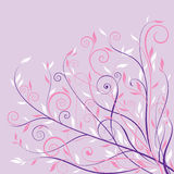 Pink floral design background Royalty Free Stock Images