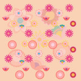 Pink Floral different flowers background wallpaper Royalty Free Stock Photos