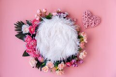 Free Pink Floral Digital Newborn Backdrop Royalty Free Stock Image - 194587816