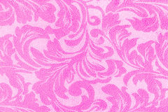 Pink floral on fabric texture for background Stock Image