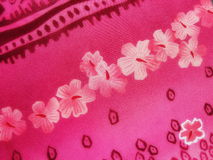 Pink floral fabric texture Royalty Free Stock Photography