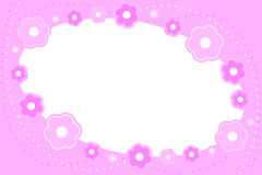 Pink floral frame. Vector illustration of pink floral frame stock illustration