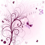Pink floral frame Stock Images