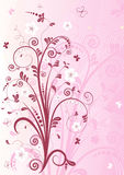 Pink floral frame Royalty Free Stock Photo