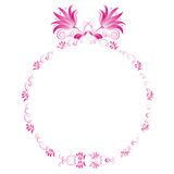 Pink floral frame Royalty Free Stock Image