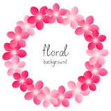 Pink floral frame Royalty Free Stock Photos