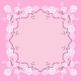 Pink floral frame Stock Photo