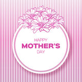 Pink Floral Greeting card - International Happy Mothers Day Royalty Free Stock Image