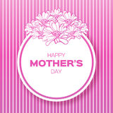 Pink Floral Greeting card - International Happy Mothers Day Royalty Free Stock Photography