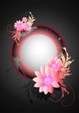 Pink Floral Grunge vector illustration