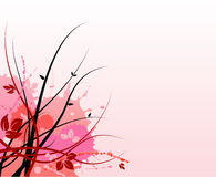 Pink floral grunge background. Pink and red floral grunge background.  Also in vector format with blank space Stock Image