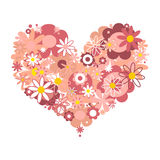 Pink floral heart Royalty Free Stock Images