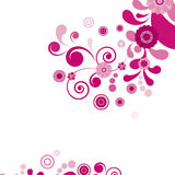 Pink Floral ornament. Stock Photos