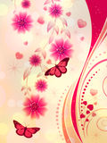 Pink Floral Ornament Royalty Free Stock Photos