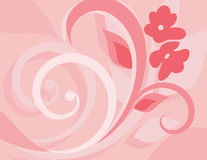 Pink Floral Ornament Backgrounds Stock Photography