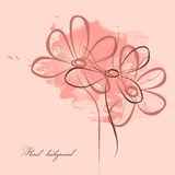 Pink floral painting Royalty Free Stock Image