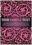 Pink floral pattern. In pink and red Royalty Free Stock Photo