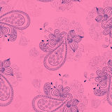 Pink floral pattern Stock Photo