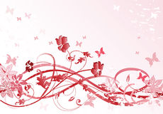 Pink floral pattern royalty free illustration