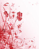 Pink floral pattern stock illustration