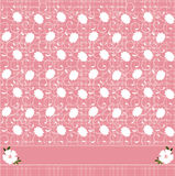 Pink floral pattern. Vector illustration of pink floral pattern Royalty Free Stock Image