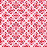 Pink floral pattern. Seamless pink red floral pattern Stock Image