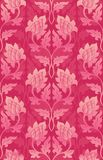 Pink floral pattern. Filigree ornament with abstract flowers. Elegant template for wallpaper, textile, shawl, carpet Stock Image