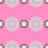 Pink Floral Pattern. Repeating different flowers on the pink background. Vector illustration Stock Photos