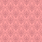 Pink Floral Patterns. Pink floral seamless repeat patterns (print, seamless background, wallpaper Stock Images