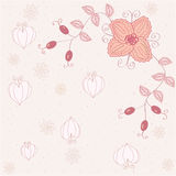 Pink floral romantic background Stock Photography