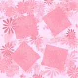 Pink floral scrapbook page Stock Images