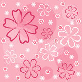 Pink floral seamless. Royalty Free Stock Images
