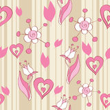 Pink floral seamless background Royalty Free Stock Photography
