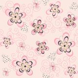 Pink Floral Seamless Background Stock Photo