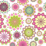 Pink floral seamless pattern. Vector illustration Stock Image