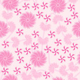 Pink Floral seamless pattern background stock illustration