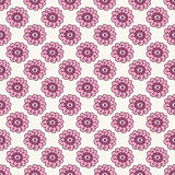 Pink floral seamless pattern. Doodle  beautiful blossom background. Hand drawn wallpaper. Royalty Free Stock Images