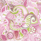 Pink floral seamless pattern. Floral wallpaper Royalty Free Stock Images