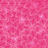Pink Floral Seamless Pattern with Flower Royalty Free Stock Images