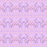 Pink floral seamless pattern ornament background print design Royalty Free Stock Photos