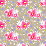 Pink floral seamless pattern Royalty Free Stock Photos