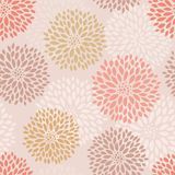 Pink floral seamless pattern. Vector EPS10 hand drawn floral seamless pattern Stock Images