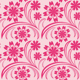 Pink floral seamless wallpaper. Royalty Free Stock Photo
