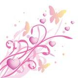 Pink floral spring background stock illustration