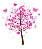 Pink floral tree Royalty Free Stock Images