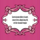 Pink floral vintage frame Stock Photo